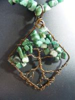 Emerald Chip Leaves With Bronze Bark In Bronze by BacktoEarthCreations