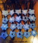 Star Macrame necklaces with Gems by moonlightflower99
