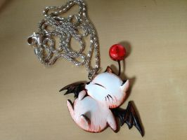 Moogle Necklace - Redone by Gatobob