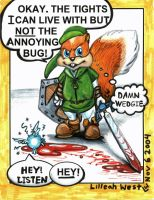 Conker..err..Hero of time... by LilleahWest
