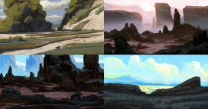 landscape sketches by MathiasZamecki