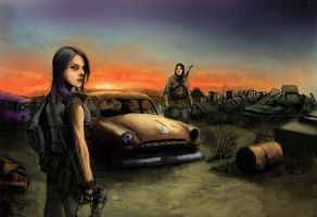 Irradiated junkyard by StoryKillinger