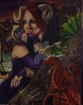 Draco Mater Amata (Dragons' Beloved Mother) by gracefulseanymph