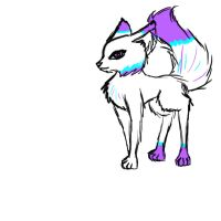 Pixie my adopted wolf by wolf-drawer-kayla