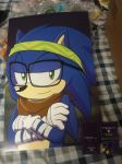 Selling 11x17 Posters of Hipster Sonic by SEGAMew