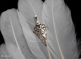 'Kira Amulet', handmade sterling silver pendant by seralune