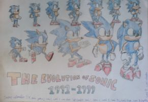 Evolution of Sonic by TheCrimsonEmo