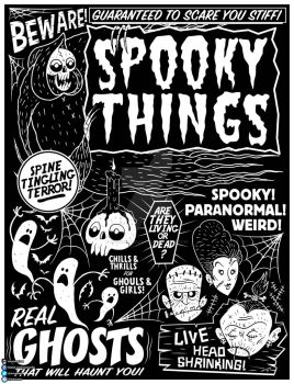 Spooky Things Poster by chrisraimoart