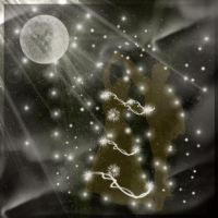 Ghostly Dance under the Moon. by Villenueve