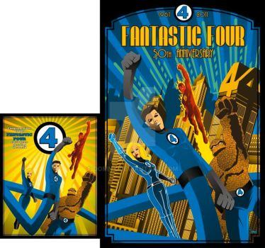 Fantastic Four 50th Anniversary by DomNX
