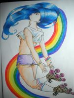 Arcoiris y patines by Gatomimo
