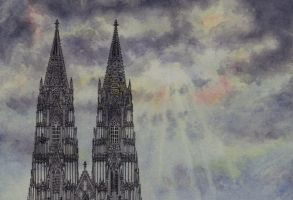 Cologne Cathedral by bogtontrent