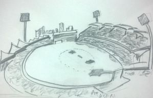 Adelaide Oval Cricket Stadium by schumanth