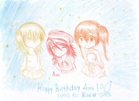 Happy Birthday to Ami and Late for Rae by Miitee
