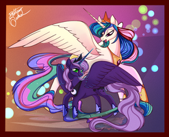 Princess Celestia and Luna by Unibat