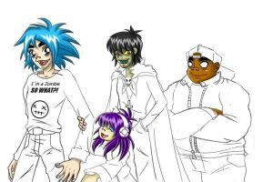 Gorillaz at my style update by GND-KicaCris