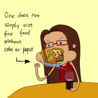One does not simply eat fast food without by HuzRedy