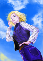 Android 18 by RainOfFantasies