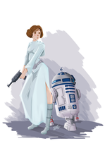 Princess and Astromech by Re-DEE-Mer