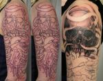 Heart Skull Armsleeve session5 by 2Face-Tattoo
