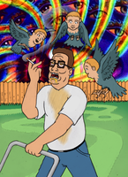 Hank Hill is high and drunk by killb94