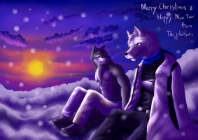 Merry Christmas and Happy New Year by Fenrirwolfen