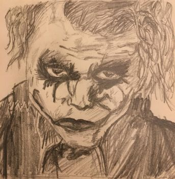 Joker sketch by SpicyWolfiX
