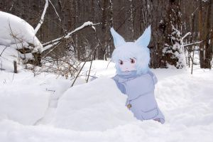 Paper Child Snow Rabbit 3 by ryu-yo