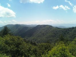 Mountain Range in North Carolina - Tennessee by naszoo