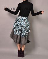 Blue Victorian Pleated Skirt 1 by yystudio