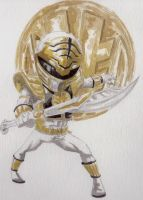 The White Ranger (w/o Outline) by BluBoiArt