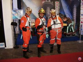 Rebel Pilots at Star Wars Expo by locomotiva