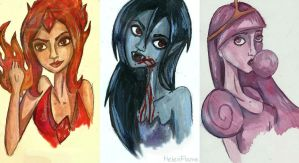 AT: girls by HelenFlame