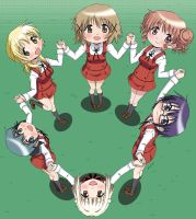Hidamari Sketch friend circle by VZMk2