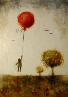 red baloon by Mary-Popins
