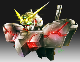 Unicorn Gundam Bust by ComiPa