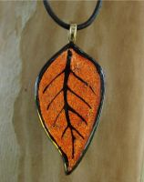 Fall Leaf Fused Glass by FusedElegance