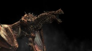 Earth Dragon of Skyrim by saltso