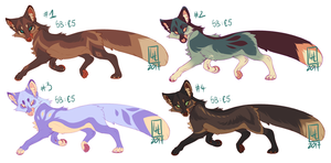 Fox adoptables ! by LiLaiRa