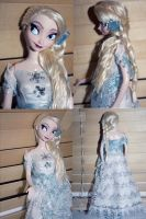 Disney Mattel Elsa Repaint #3.5 - Concept Art by claude-on-the-road