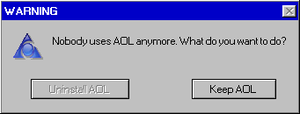 AOL Error Message by Dragonartist94