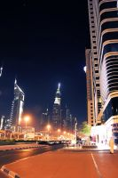 Sheikh Zayed road at night  new edition 4 by amirajuli