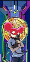 St. Deadmau5 and Sir Meowington by bleeds-coffee
