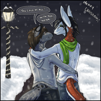Winter Time: Black and Lazuli by pidgepudge