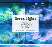 Textures Green Lights by Mia land-of-grafic by dzudi91