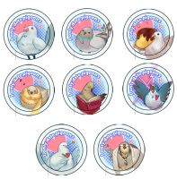 Hatoful Boyfriend - Buttons by xhiro