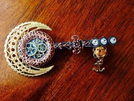Steampunk Skeleton KeyPin ( Tripe Port Side) by CrossTheHatter