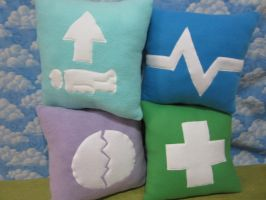 New City of Heroes Inspiration pillows by Rei2jewels