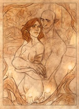 Commission-Scarlet and Solas by kallielef