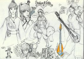 Sketches of Korra by SomeDudeWithAPen
